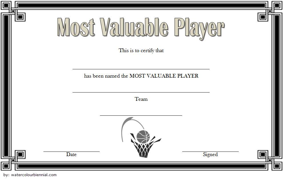 Download 10 Basketball Mvp Certificate Editable Templates inside Printable Soccer Mvp Certificate Template