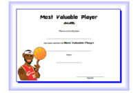 Download 10 Basketball Mvp Certificate Editable Templates pertaining to Basketball Tournament Certificate Template Free