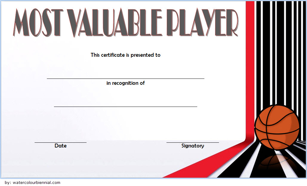 Download 10 Basketball Mvp Certificate Editable Templates pertaining to Best Basketball Tournament Certificate Templates