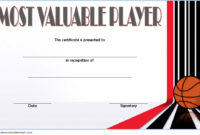 Download 10 Basketball Mvp Certificate Editable Templates with Basketball Tournament Certificate Template Free