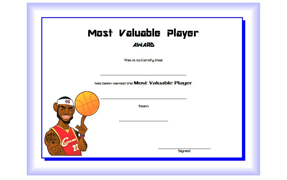 Download 10 Basketball Mvp Certificate Editable Templates with Best Basketball Tournament Certificate Templates