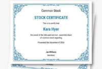 Download 10 Stock Certificate Templates  Pdf  Word pertaining to Stock Certificate Template Word