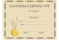 Download 12 Winner Certificate Template Ideas Free inside First Aid Certificate Template Top 7 Ideas Free