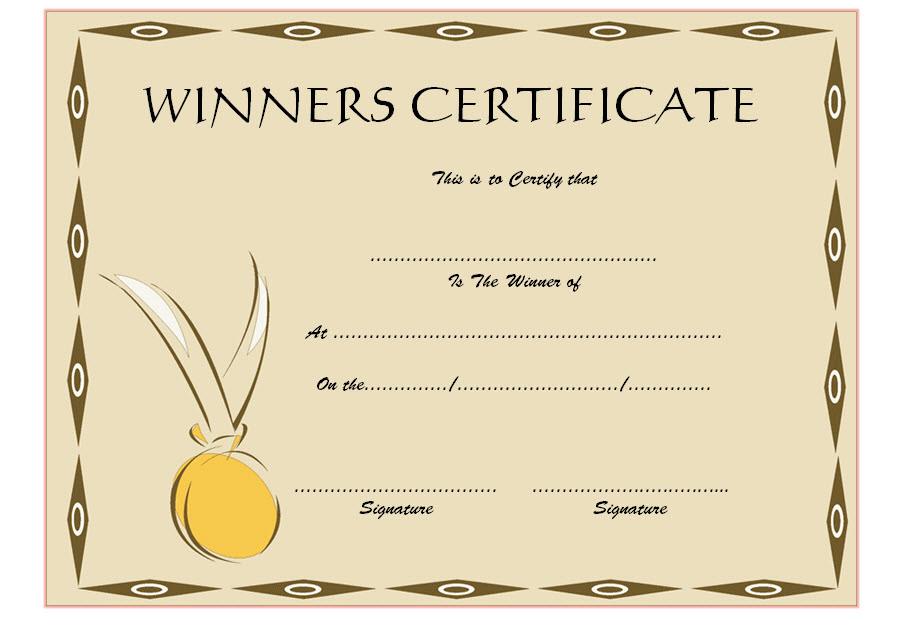 Download 12 Winner Certificate Template Ideas Free inside First Aid Certificate Template Top 7 Ideas Free