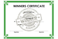 Download 12 Winner Certificate Template Ideas Free pertaining to Winner Certificate Template Free 12 Designs