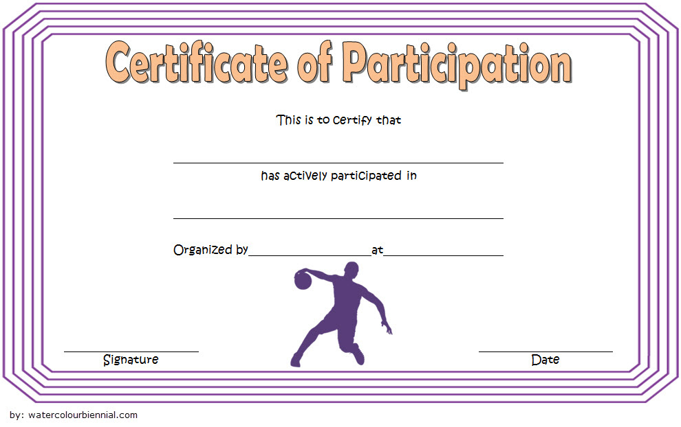 Download 7 Basketball Participation Certificate Editable regarding Basketball Mvp Certificate Template