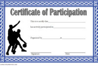 Download 7 Basketball Participation Certificate Editable within Printable Netball Participation Certificate Editable Templates
