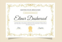 Download Elegant Certificate Template Ready To Print For pertaining to Quality Elegant Certificate Templates Free