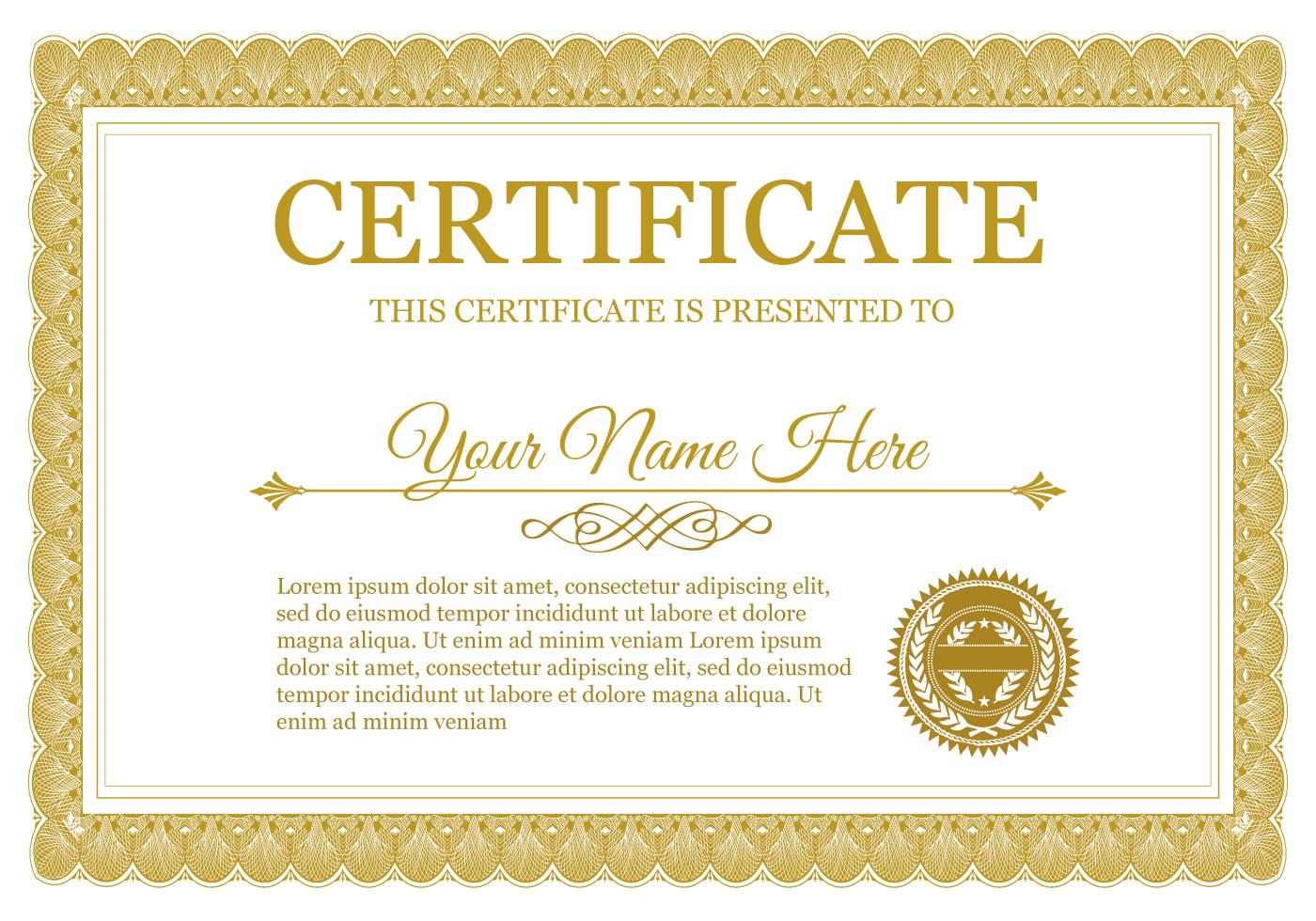 Download Template Certificate Word  Bisatuh with Awesome Certificate Templates For Word Free Downloads