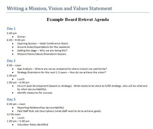 Downloadable Church Forms within Board Of Directors Meeting Agenda Template