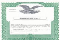 Duke 6 Membership Stock Certificates intended for Share Certificate Template Companies House