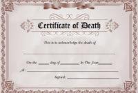 Duplicate Certificate Template  Carlynstudio for Fake Death Certificate Template