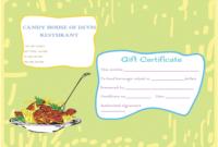 Eat N Share Restaurant Gift Certificate Template  Gift throughout Awesome Restaurant Gift Certificate Template