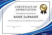 Editable 30 Free Certificate Of Appreciation Templates And throughout Editable Certificate Of Appreciation Templates