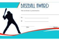 Editable Baseball Award Certificates 9 Sporty Designs Free for Table Tennis Certificate Templates Editable