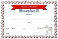 Editable Baseball Award Certificates 9 Sporty Designs Free pertaining to Quality Certificate For Best Dad 9 Best Template Choices