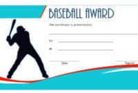 Editable Baseball Award Certificates 9 Sporty Designs Free regarding Best Baseball Achievement Certificate Templates
