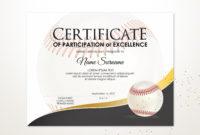 Editable Baseball Certificate Template Sport Certificate in Free Baseball Achievement Certificates