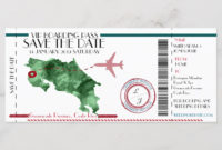 Editable Boarding Pass Save The Date  Save The Date Save pertaining to Travel Gift Certificate Editable