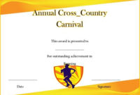 Editable Cross Country Certificates  Carlynstudio throughout Quality Running Certificate Templates