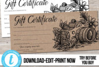 Editable Custom Printable Photography Gift Certificate intended for Amazing Free Photography Gift Certificate Template