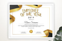 Editable Employee Of The Year Certificate Template with regard to Quality Employee Of The Year Certificate Template Free