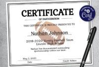 Editable Football Certificate Template Printable in Free Football Certificate Template