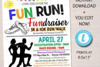 Editable Fun Run Flyer Printable School Community in Marathon Certificate Template 7 Fun Run Designs