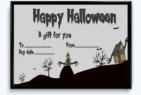 Editable Halloween Gift Certificate Bats Themed pertaining to Halloween Gift Certificate Template Free