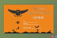 Editable Halloween Gift Certificate Beast  Gct within Amazing Halloween Gift Certificate Template Free