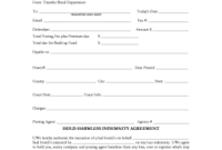 Editable Hold Harmless And Indemnity Agreement Pdf  Fill for Cost Plus Building Contract Template