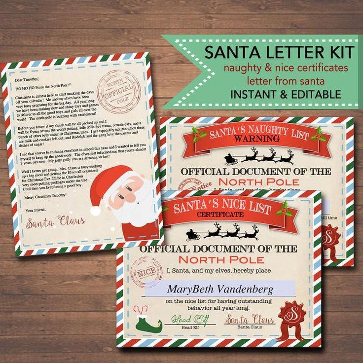 Editable Nice/Naughty Certificates Santa Letter Christmas with regard to Free 9 Naughty List Certificate Templates