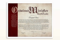 Editable Ordained Minister Certificate Template Printable with regard to Best Ordination Certificate Template