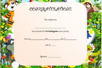 Editable Pre K Graduation Certificates  10 Template Ideas intended for Daycare Diploma Certificate Templates