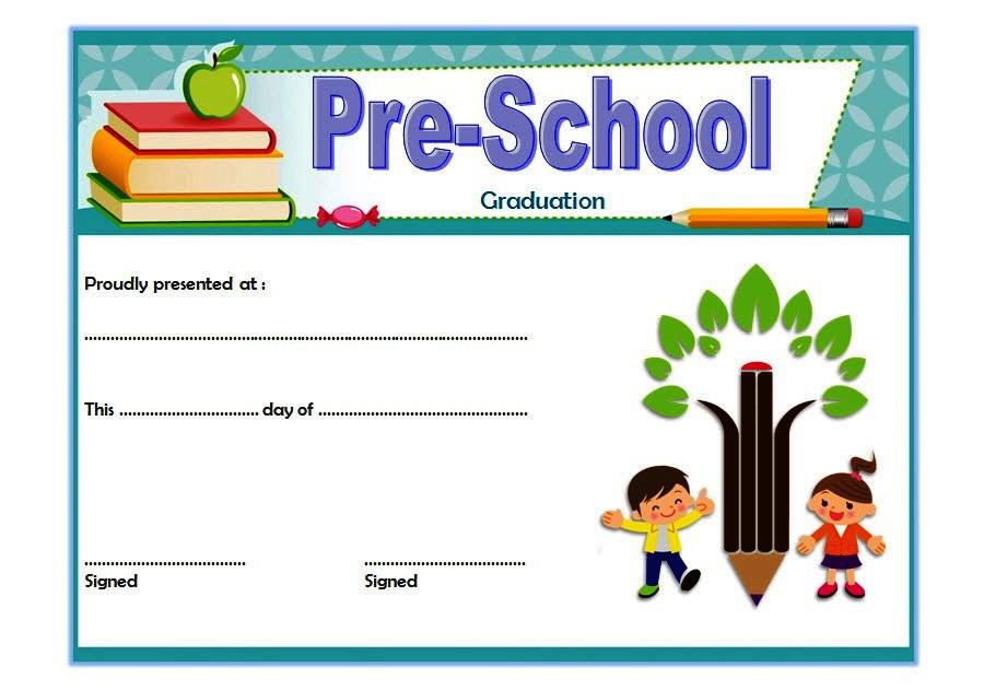 Editable Preschool Graduation Certificate Template Free 3 with regard to Printable Editable Pre K Graduation Certificates