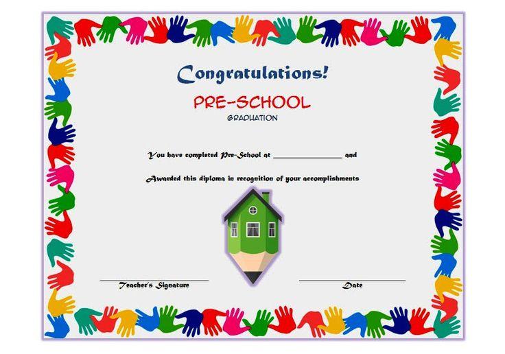 Editable Preschool Graduation Certificate Template Free 7 throughout Certificate For Pre K Graduation Template