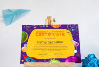 Editable School Science Certificate Award Template  Etsy within Science Award Certificate Templates