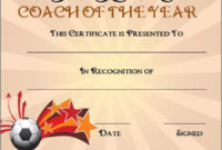Editable Soccer Award Certificate Templates  Free regarding Awesome Soccer Certificate Template Free
