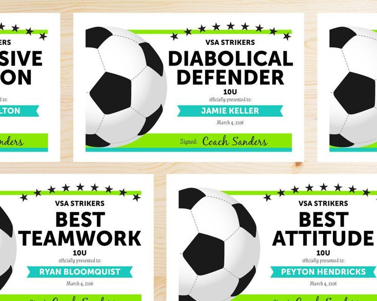 Editable Soccer Award Certificates  Instant Download for Free Soccer Award Certificate Templates Free
