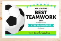 Editable Soccer Award Certificates  Instant Download intended for Awesome Soccer Award Certificate Template