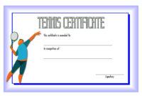 Editable Tennis Certificates 10 Customizable Templates for Badminton Certificate Template Free 12 Awards