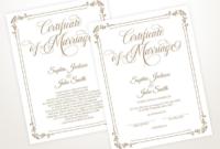 Editable Wedding Certificate Template Printable throughout Wedding Gift Certificate Template