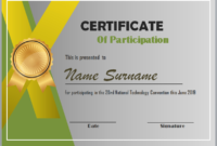 Editable Word Certificate Of Participation Template within Certification Of Participation Free Template