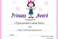 Education Certificate  Princess Award Certificate intended for Lifeway Vbs Certificate Template