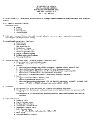 Effective Board Meeting Agendas  Fill Out Print throughout Free Non Profit Meeting Agenda Template
