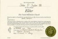 Elder Ordination Certificate Template Templates 27017 regarding Ordination Certificate Templates