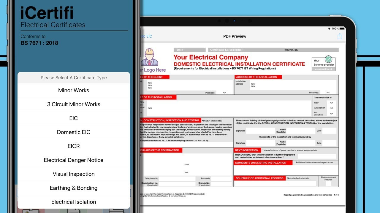 Electrical Certificate Apps And Software Works Offline throughout Electrical Isolation Certificate Template