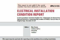 Electrical Installation Certificate  Circuit Diagram Images throughout Free Minor Electrical Installation Works Certificate Template