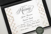 Elegant Certificate Of Marriage Editable Template regarding Elegant Gift Certificate Template