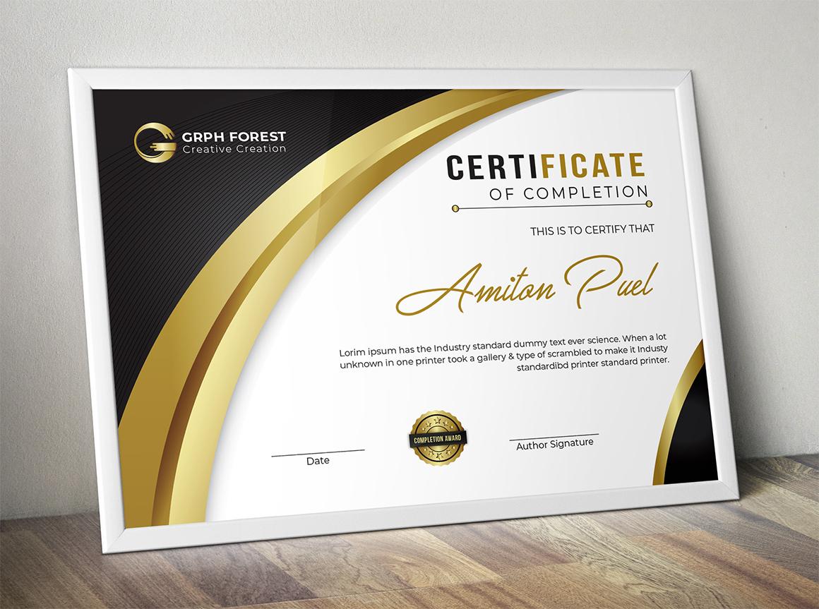 Elegant Certificate Template 73490 regarding Quality Elegant Certificate Templates Free